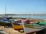 Fishing boats in quaint Alvor