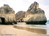 Caves and fabulous sand in Alvor
