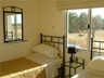 The twin bedroom has hot and cold air con and sea views